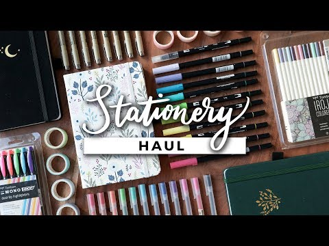 HUGE Stationery Haul! (Bullet Journal Supplies, Markers & Pens!)