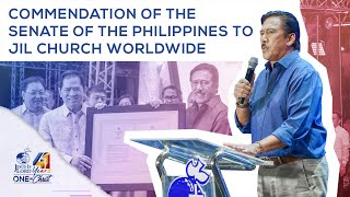 Commendation of the Senate of the Philippines to JIL Church Worldwide | JIL Church 41st Anniversary