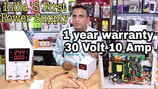 India's first 1 year Warranty 30 Volt 10 Amp DC Power Supply AKT 3010SDW New gadget Nagri