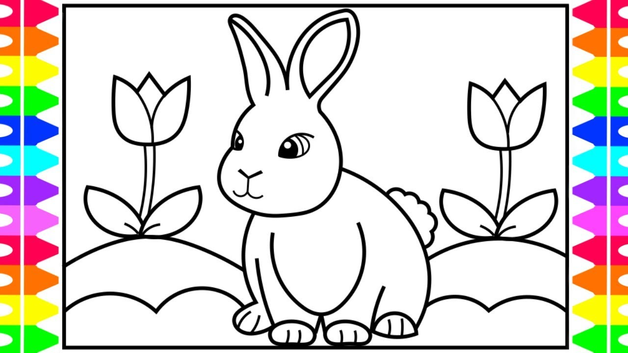 How To Draw A Rabbit For Kids  Ud83d Udc30 Ud83c Udf08 Ud83c Udf37rabbit Realistic Drawing