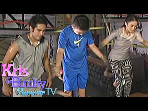 Gerald, Belle and Bimby do the flip