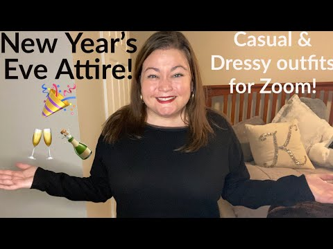 New Year's Eve Attire for Virtual Parties! 🎉🍾 // Casual & Dressy outfits