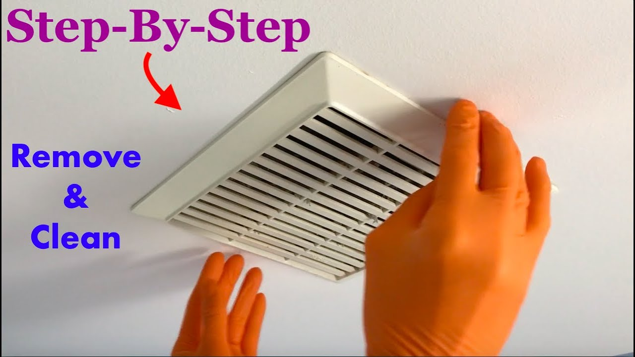 How to remove & clean bathroom ceiling fan - Nutone