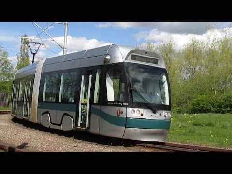 Nottingham Trams Phase One - Hucknall to Station Street via Phoenix Park