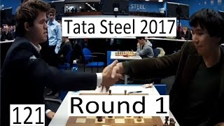 Tata Steel 2017 - Round 1 with So-Carlsen