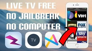 iOS 9 - 10.2.1/10.3 How To: Get LIVE CABLE & SPORTS TV FREE (3 APPS) (NO JAILBREAK) (NO COMPUTER)