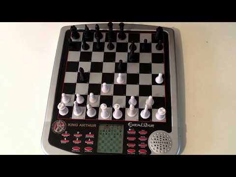 King Arthur Excalibur Electronic Chess Set Review - Learn Chess Practice Chess
