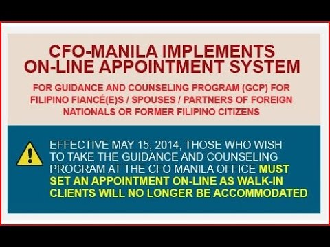 """HOW TO DO IT YOURSELF K1 VISA """"GUIDANCE AND COUNSELING ON-LINE APPOINTMENT SYSTEM"""" (GOAS) NO LAWYER"""