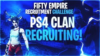 PS4/PC Clan Tryouts LIVE! (Fortnite Battle Royal) 1v1's LIVE! Snow Castle In Fortnite?!