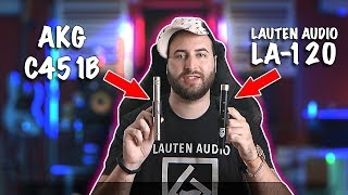 AKG C451B vs. Lauten Audio LA-120 on ACOUSTIC GUITAR | Small Condenser microphone COMPARISON