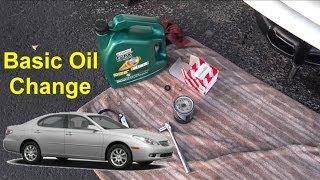basic oil change video lexus es 330 auto repair series