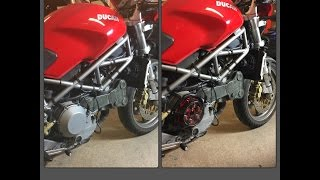 Ducati Monster S4. EVR progressive clutch plate install.