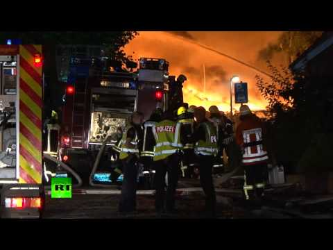 Massive explosion rocks German chemical plant