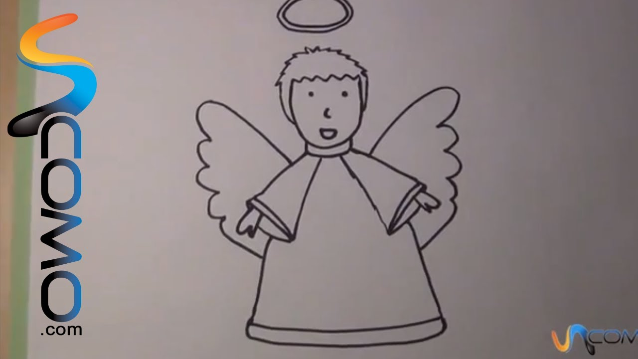 Dibujar Un ángel Paso A Paso Draw An Angel Step By Step Youtube