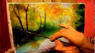 Tranh phong cảnh, Nghệ thuật vẽ tranh phong cảnh sơn dầu