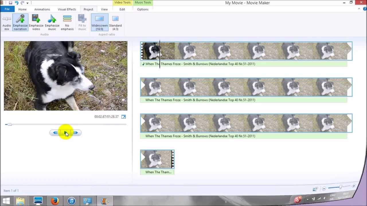 how to mute audio in windows movie maker 2012 youtube