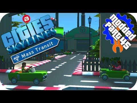Cities Skylines Gameplay: BEST DRIVING SCHOOL! Cities: Skylines Mods MASS TRANSIT DLC #45