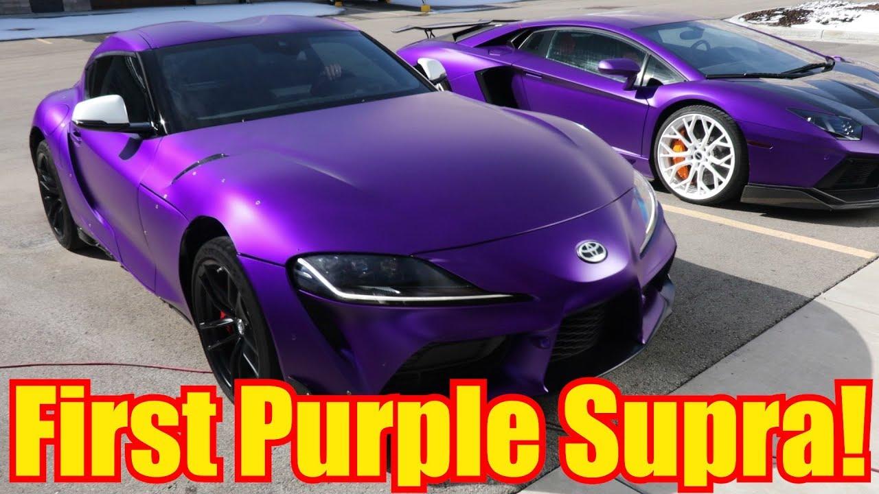 2020 Toyota Supra Purple Stradman