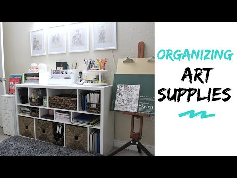 Art & Craft Supplies Organization & Storage Ideas In Small Space
