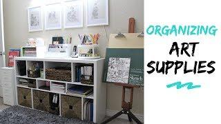 Art & Craft Supplies Organization & Storage Ideas In Small Space