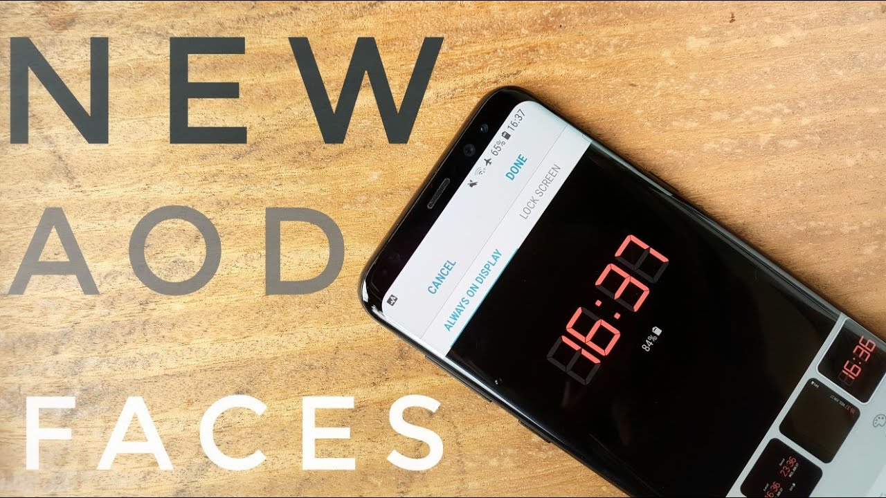 Get new Always On Display clock faces | FAST and Easy