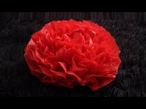DIY: Paper Napkin Flower