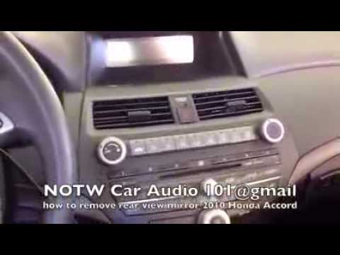 How To Remove 2008 2010 Honda Accord Rear View Mirror Youtube