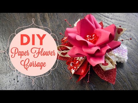 Valentine's Day DIY Corsage | BalsaCircle.com