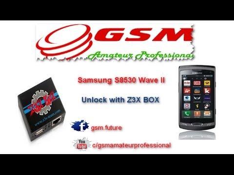 Samsung S8530 Wave II Unlock with Z3X BOX