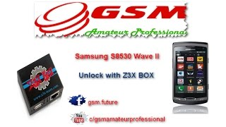 Samsung S8530 Wave II Unlock with Z3X BOX