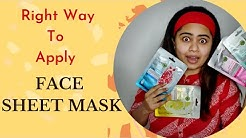 How To Apply Face Sheet Mask || ഫേസ് ഷീറ്റ് മാസ്ക് ശരിയായി ഇടേണ്ടത