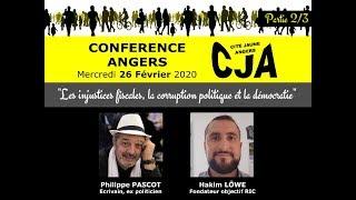 Conférence Les injustices fiscales, la corruption politique et la démocratie  Angers #2 - 26/02/2020