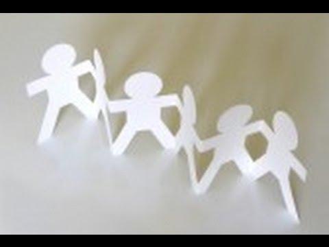 C mo hacer cadeneta con papel youtube - Como hacer cadenetas de papel para fiestas ...