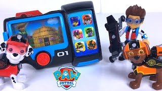 PAW PATROL MISSION PAW PUP PAD FIGURINES WITH RYDER RUBBLE ZUMA CHASE ROCKY & SKYE -  UNBOXING
