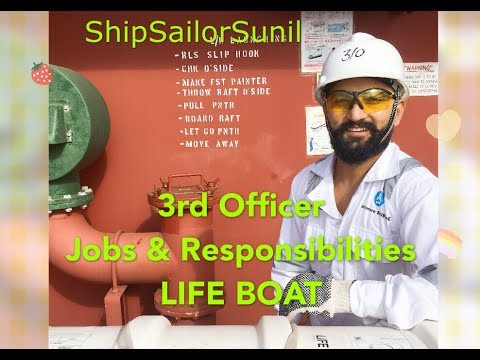 Lifeboat & 3rd Officer Duties/ShipSailorSunil