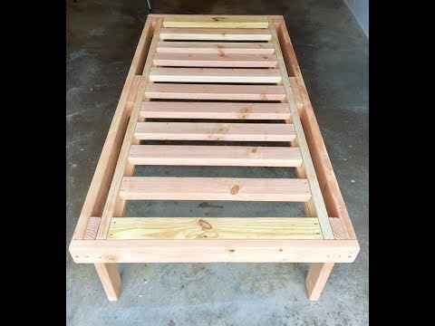 HOW TO BUILD A BED WITH 2X4 LUMBER FOR $40