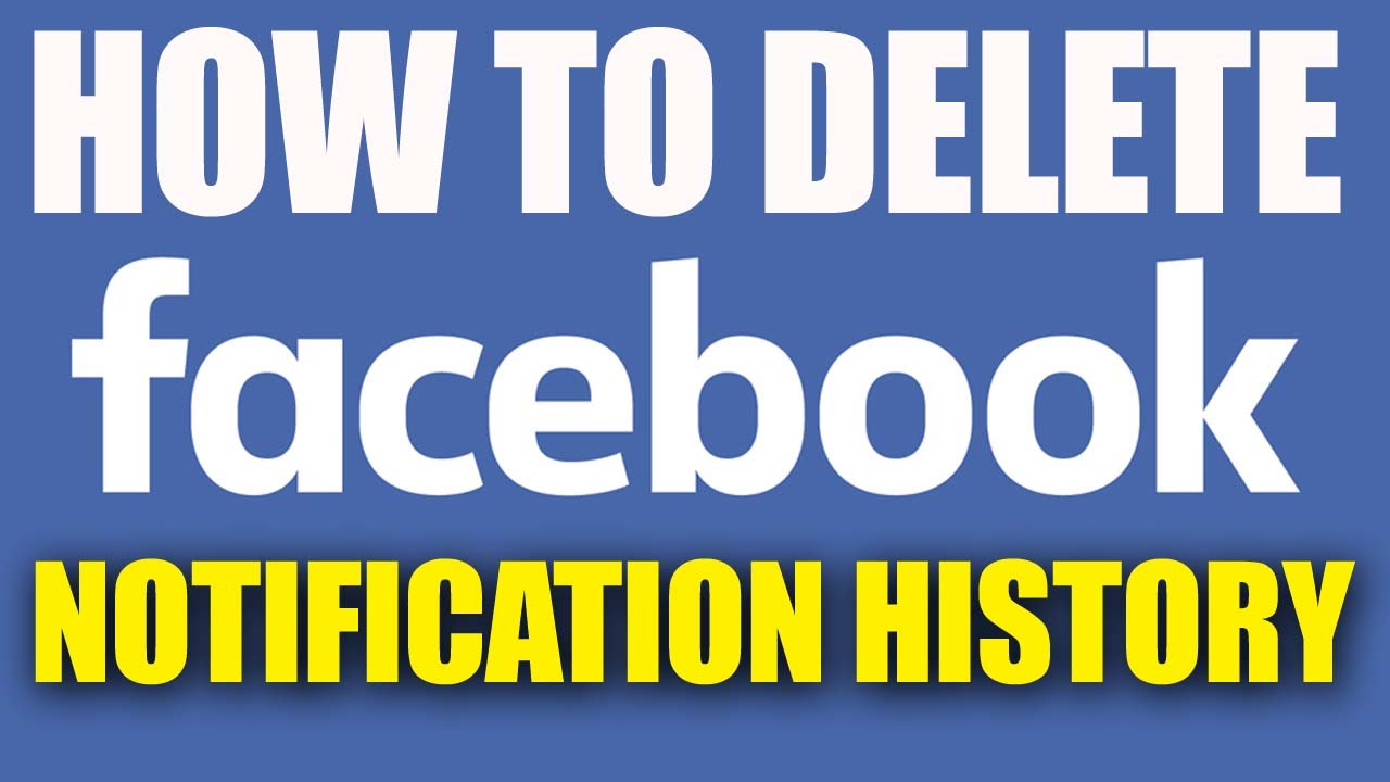 How to delete facebook notifications history 2016 youtube how to delete facebook notifications history 2016 ccuart Choice Image