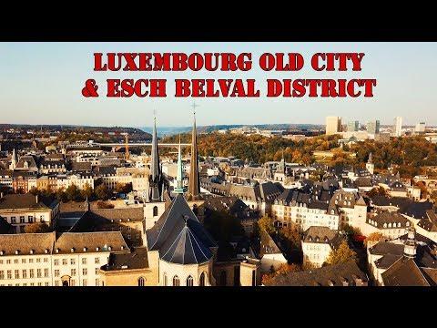 Luxembourg City Center and Esch Belval - DJI Mavic Pro Flight - Tennis Travel Vlog