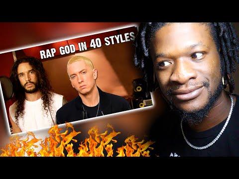 Eminem - Rap God   Performed In 40 Styles   Ten Second Songs (REACTION)