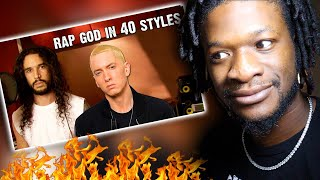 Eminem  Rap God | Performed In 40 Styles | Ten Second Songs (REACTION)