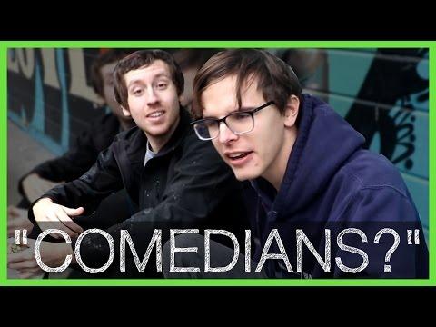 'Comedians?' on Skateboards Getting Falafel - Radjor