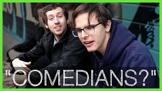 """Comedians?"" on Skateboards Getting Falafel - Radjor"