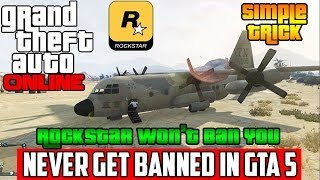 HOW TO NEVER GET BANNED BY ROCKSTAR IN GTA 5 ONLINE - GTA V Online Trick to not get Banned