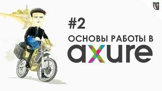 Axure - навигационное меню, слайдер и табы