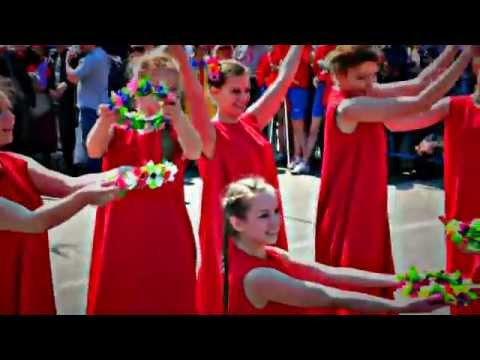 Промо - ролик Красный флэшмоб в Москве