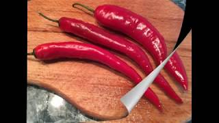 How to cut chili peppers, Basic chili pepper cutting recipes