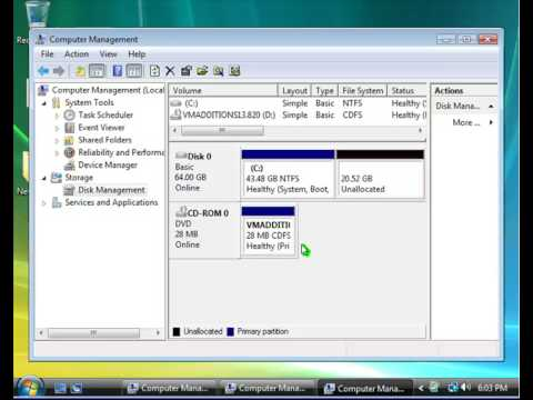 How To Create A Partition Windows Vista