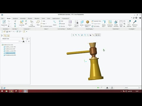 Creating A Section View Ptc Creo Doovi