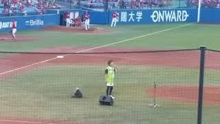 神宮球場で始球式前に歌った一曲 始球式、7回も撮れ次第アップさせてい...