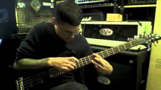 evan brewer with esp ltd b 208fm bass